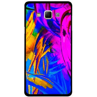 Snooky Printed Color Bushes Mobile Back Cover For Samsung Galaxy E5 - Multi