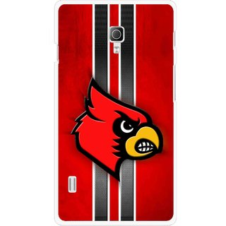 Snooky Printed Red Eagle Mobile Back Cover For Lg Optimus L7 II P715 - Multicolour