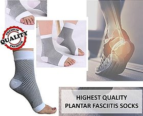 Importikaah All-Day Compression Socks For Plantar Fasciitis Pain Relief Ankle Support -Sleeve Style - Size - S/M