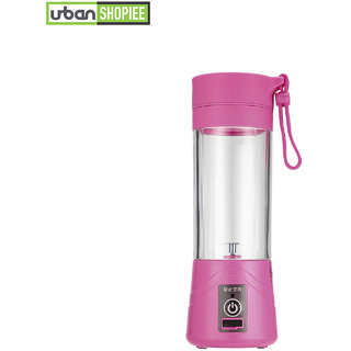 78f94c814d1 Urban Shopiee Pink Color Instant Shaker Juicer Rechargeable Juicer Cup  Electric Shaker Juice Bottle With USB Charger