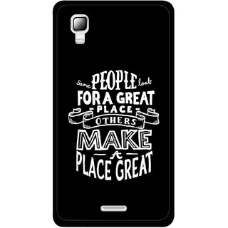 Snooky Printed Personality Attitude Mobile Back Cover For Micromax Canvas Doodle 3 A102 - Black