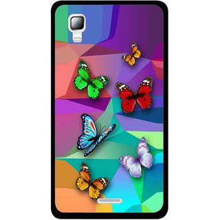 Snooky Printed Trendy Buterfly Mobile Back Cover For Micromax Canvas Doodle 3 A102 - Multi