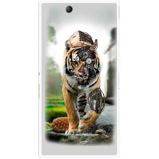 Snooky Printed Mechanical Lion Mobile Back Cover For Sony Xperia Z Ultra - Grey