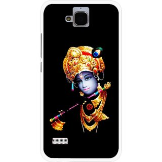 Snooky Printed God Krishna Mobile Back Cover For Huawei Honor Holly - Multicolour