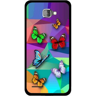 Snooky Printed Trendy Buterfly Mobile Back Cover For Micromax Canvas Mad A94 - Multi