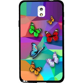 Snooky Printed Trendy Buterfly Mobile Back Cover For Samsung Galaxy Note 3 - Multi