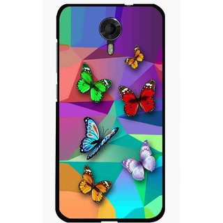 Snooky Printed Trendy Buterfly Mobile Back Cover For Micromax Canvas Xpress 2 E313 - Multi