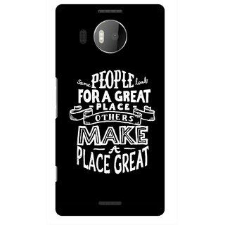 Snooky Printed Personality Attitude Mobile Back Cover For Microsoft Lumia 950 XL - Black