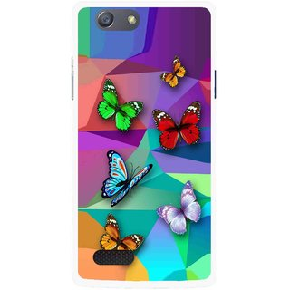 Snooky Printed Trendy Buterfly Mobile Back Cover For Oppo Neo 7 - Multi