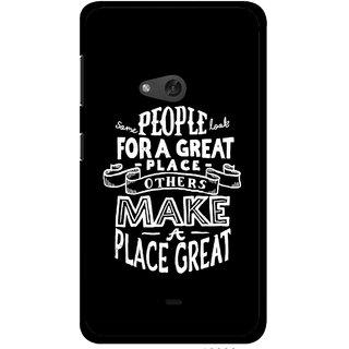 Snooky Printed Personality Attitude Mobile Back Cover For Nokia Lumia 625 - Black
