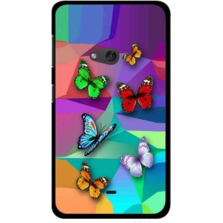 Snooky Printed Trendy Buterfly Mobile Back Cover For Nokia Lumia 625 - Multi