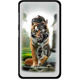 Snooky Printed Mechanical Lion Mobile Back Cover For Nokia Lumia 625 - Grey