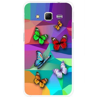 Snooky Printed Trendy Buterfly Mobile Back Cover For Samsung Galaxy Core Prime - Multi