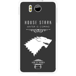 Snooky Printed House Stark Mobile Back Cover For Micromax Canvas DOODLE A111 - Multicolour