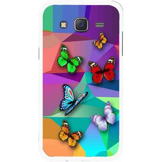 Snooky Printed Trendy Buterfly Mobile Back Cover For Samsung Galaxy J5 - Multi