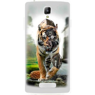 Snooky Printed Mechanical Lion Mobile Back Cover For Oppo Neo 3 R831k - Grey