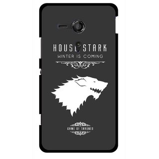 Snooky Printed House Stark Mobile Back Cover For Sony Xperia SP - Multicolour