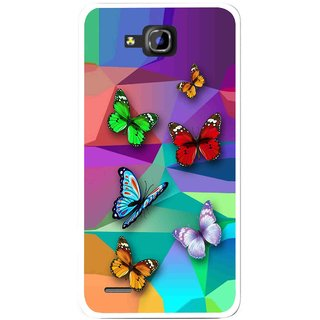 Snooky Printed Trendy Buterfly Mobile Back Cover For Huawei Honor 3C - Multi