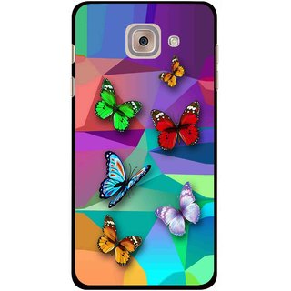 Snooky Printed Trendy Buterfly Mobile Back Cover For Samsung Galaxy J7 Max - Multi