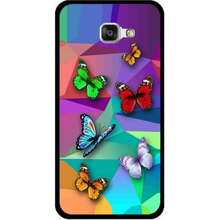 Snooky Printed Trendy Buterfly Mobile Back Cover For Samsung Galaxy A3 (2016) - Multi