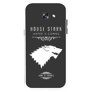 Snooky Printed House Stark Mobile Back Cover For Samsung Galaxy A7 (2017) - Multicolour