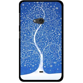 Snooky Printed Wish Tree Mobile Back Cover For Nokia Lumia 625 - Blue