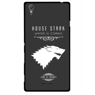 Snooky Printed House Stark Mobile Back Cover For Sony Xperia T3 - Multicolour