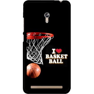 Snooky Printed Love Basket Ball Mobile Back Cover For Asus Zenfone 6 - Multicolour