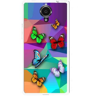 Snooky Printed Trendy Buterfly Mobile Back Cover For Gionee Elife E7 - Multi