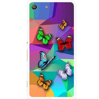Snooky Printed Trendy Buterfly Mobile Back Cover For Sony Xperia M5 - Multi