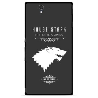Snooky Printed House Stark Mobile Back Cover For Sony Xperia Z - Multicolour