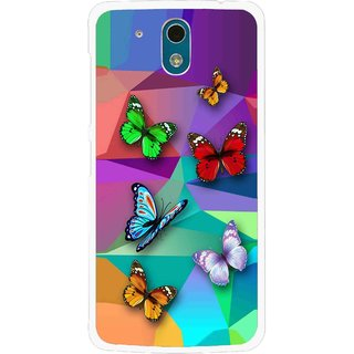 Snooky Printed Trendy Buterfly Mobile Back Cover For HTC Desire 326G - Multi