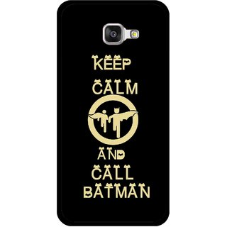 Snooky Printed Keep Calm Mobile Back Cover For Samsung Galaxy A3 (2016) - Black