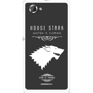 Snooky Printed House Stark Mobile Back Cover For Sony Xperia L - Multicolour