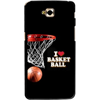 Snooky Printed Love Basket Ball Mobile Back Cover For Lg G Pro Lite - Multicolour