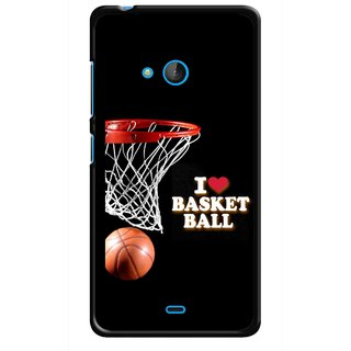 Snooky Printed Love Basket Ball Mobile Back Cover For Nokia Lumia 540 - Multicolour