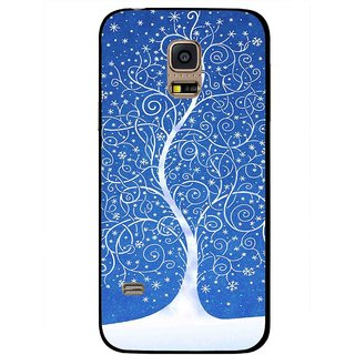 Snooky Printed Wish Tree Mobile Back Cover For Samsung Galaxy S5 Mini - Blue