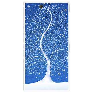 Snooky Printed Wish Tree Mobile Back Cover For Sony Xperia Z Ultra - Blue