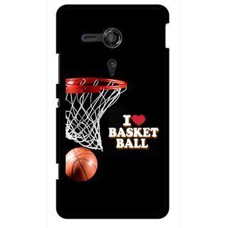 Snooky Printed Love Basket Ball Mobile Back Cover For Sony Xperia SP - Multicolour