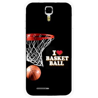 Snooky Printed Love Basket Ball Mobile Back Cover For Micromax Canvas Juice A177 - Multicolour