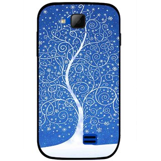 Snooky Printed Wish Tree Mobile Back Cover For Micromax Canvas Fun A63 - Blue