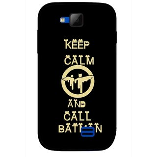 Snooky Printed Keep Calm Mobile Back Cover For Micromax Canvas Fun A63 - Black