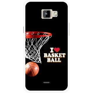 Snooky Printed Love Basket Ball Mobile Back Cover For Micromax Canvas Nitro A310 - Multicolour