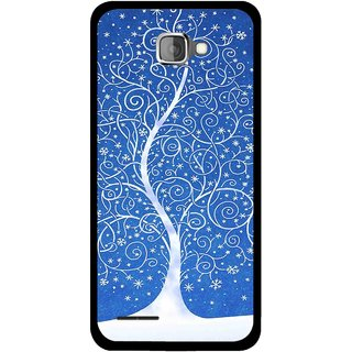 Snooky Printed Wish Tree Mobile Back Cover For Micromax Canvas Mad A94 - Blue
