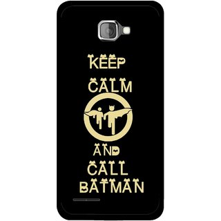 Snooky Printed Keep Calm Mobile Back Cover For Micromax Canvas Mad A94 - Black