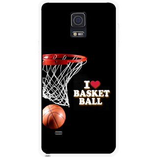Snooky Printed Love Basket Ball Mobile Back Cover For Samsung Galaxy Note 4 - Multicolour