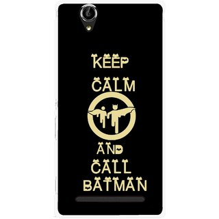 Snooky Printed Keep Calm Mobile Back Cover For Sony Xperia T2 Ultra - Black