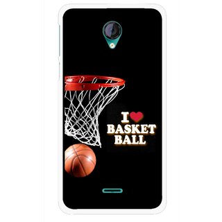 Snooky Printed Love Basket Ball Mobile Back Cover For Micromax Canvas Unite 2 - Multicolour