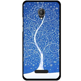 Snooky Printed Wish Tree Mobile Back Cover For Micromax Canvas Spark Q380 - Blue