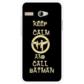Snooky Printed Keep Calm Mobile Back Cover For Intex Aqua 3G Pro - Black